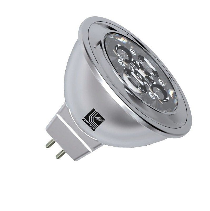 Bec Power LED GU5.3/MR16  12V,  5W alb cald