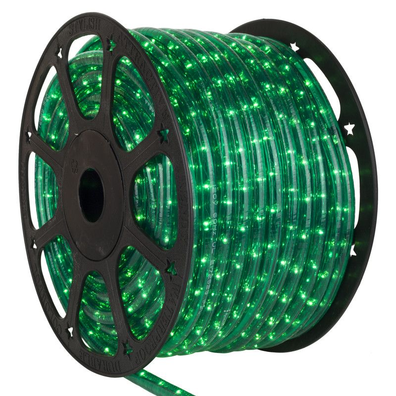 Tub luminos bec,1 canal, verde (kit)