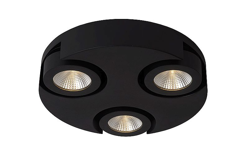 Lucide-MITRAX LED 3 black,Plafoniera