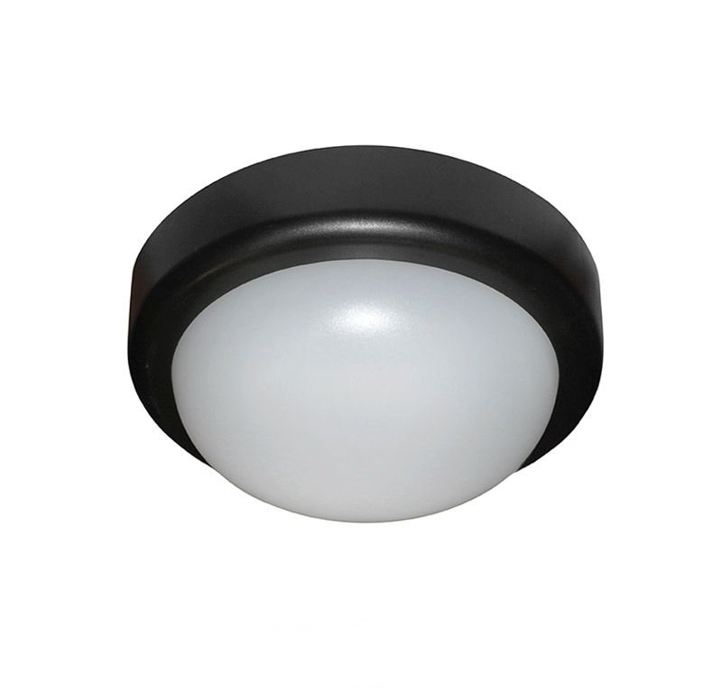 Aplica LED 10W alb neutru, 230V, black, rotunda,IP44