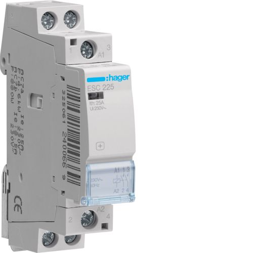 Hager- Contactor 2P, 25A, 230V, 2ND