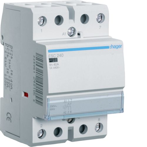 Hager- Contactor 2P, 40A, 230V, 2ND