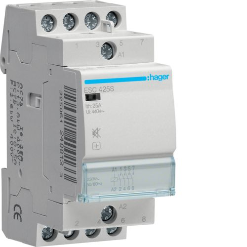 Hager-Contactor 25A/230V,4ND,CM,S