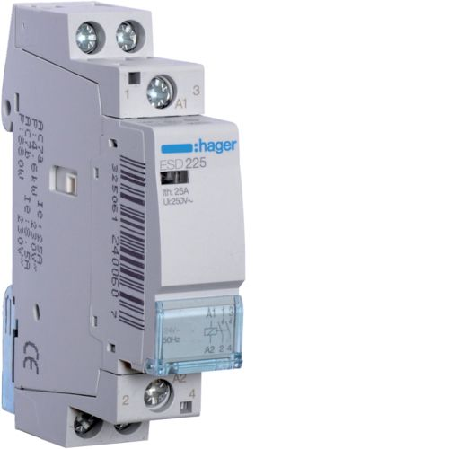 Hager-Contactor 25A/ 24V,1ND,CM