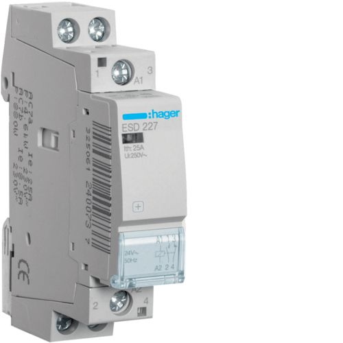 Hager-Contactor 25A/ 24V,1ND+1NI,CM