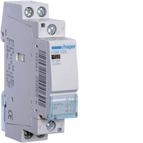 Hager- Contactor 2P, 25A, 110/127V, 2ND